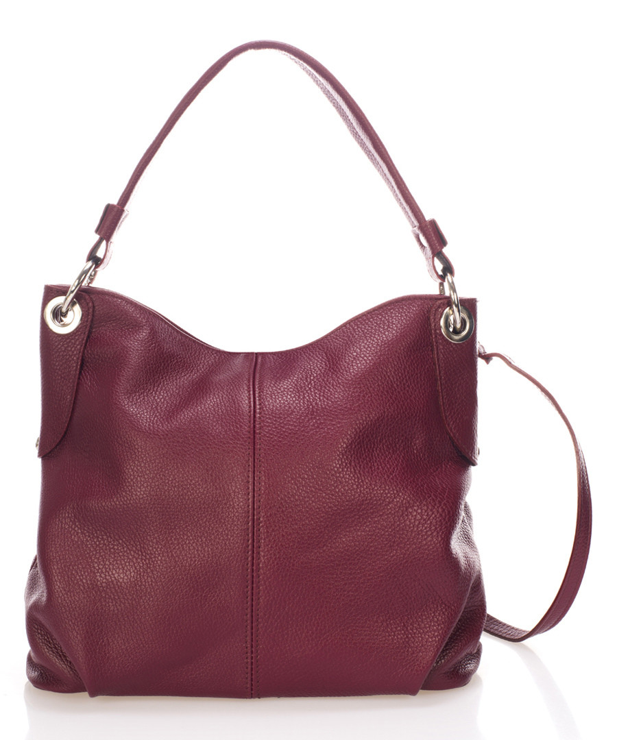 Wine leather slouch shoulder bag Sale - giorgio costa