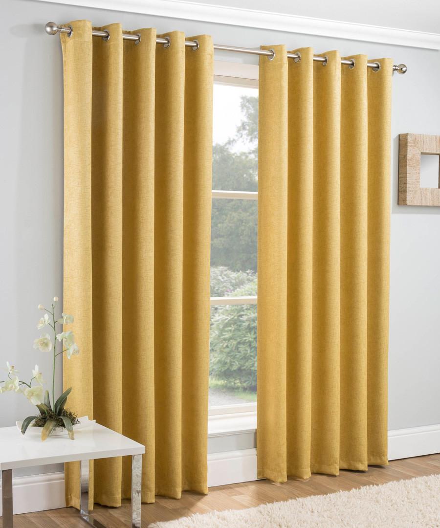 2pc Vogue ochre curtains 168 x 137cm Sale - enhanced living