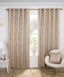 2pc Halo taupe curtains 168 x 137cm