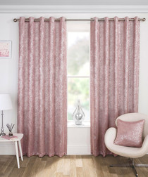 2pc Halo dusty pink curtains 168 x 137cm