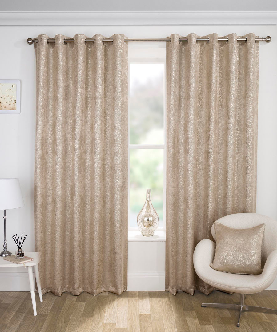 2pc Halo taupe curtains 168 x 183cm Sale - Enhanced Living