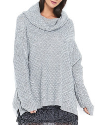Grey cowl neck jumper