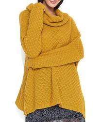 Mustard cowl neck jumper