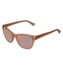 Translucent blush D-frame sunglasses