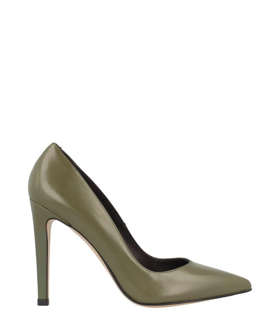 Khaki leather court heels Sale - roberto botella