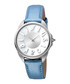 Silver-tone & blue leather logo watch Sale - JUST CAVALLI Sale