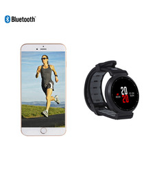 Black round Bluetooth smartwatch