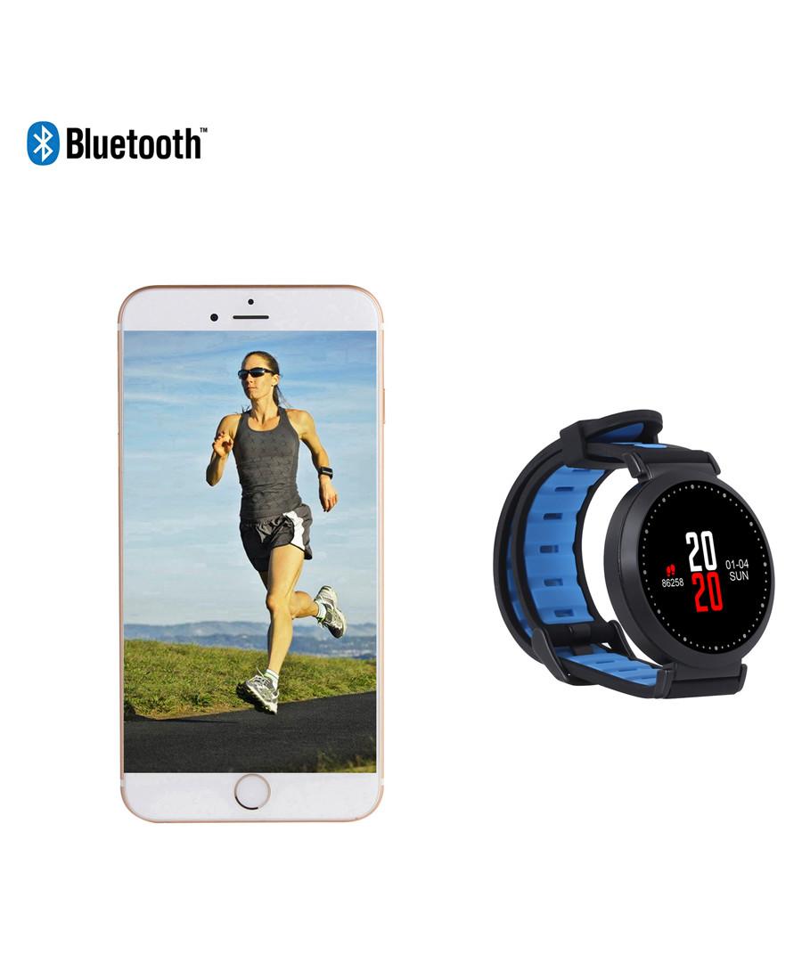 Blue round Bluetooth smartwatch Sale - Inki