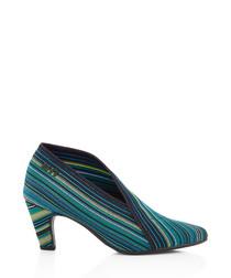 Ocean stripe ankle boots