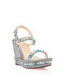 Pyraclou Nappa 110 silver wedges Sale - christian louboutin Sale