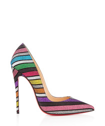 So Kate 120 multi-striped stilettos