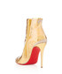 Booty Cap 100 crinkled gold ankle boots Sale - christian louboutin Sale
