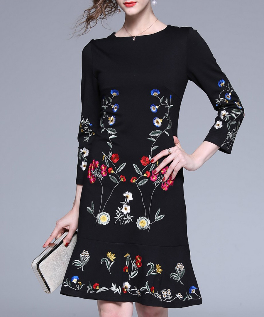 Black flowers dress Sale - Kaimilan