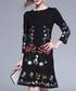 Black flowers dress Sale - Kaimilan Sale