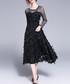 Black feathered sheer detail dress Sale - Kaimilan Sale