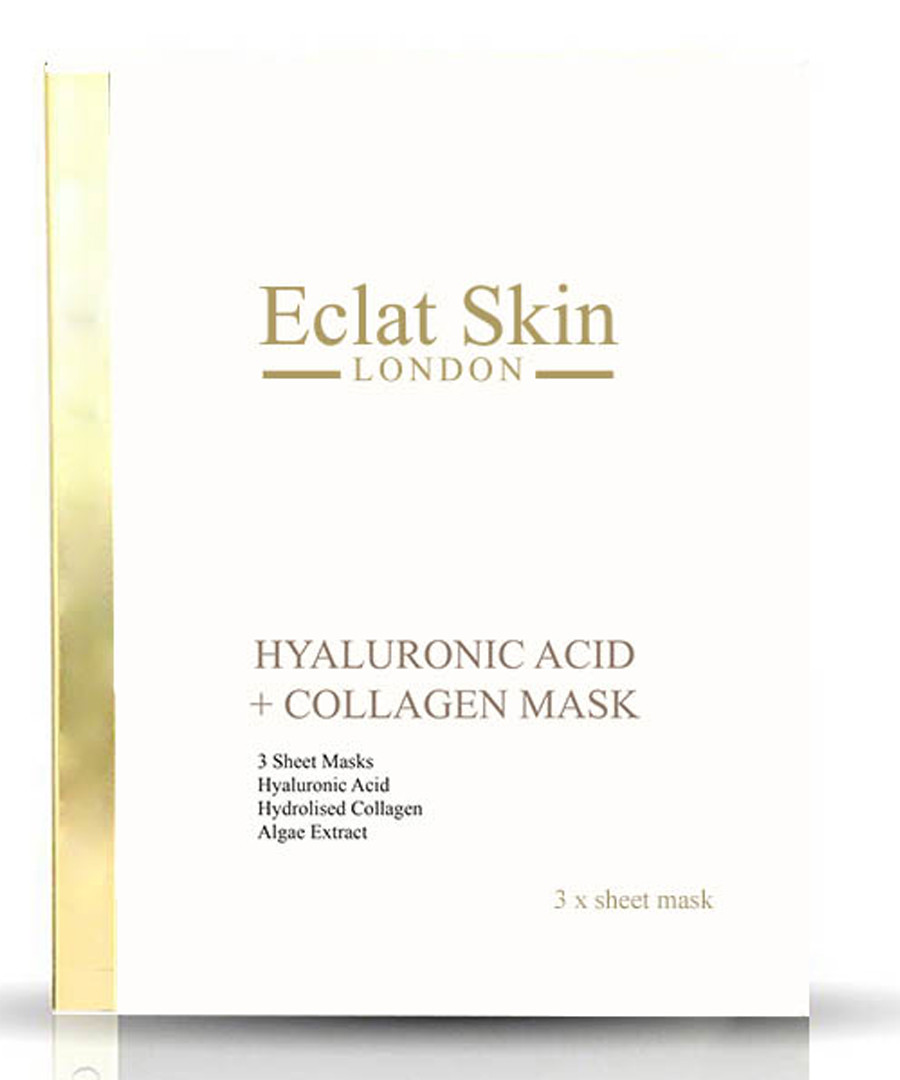 3pc Hyaluronic acid & collagen masks Sale - eclat skincare