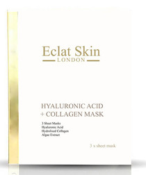 3pc Hyaluronic acid & collagen masks