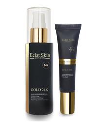 2pc 24k gold serum & under eye cream set