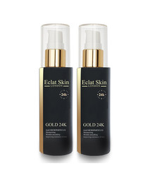 2pc 24k gold anti-wrinkle serum set