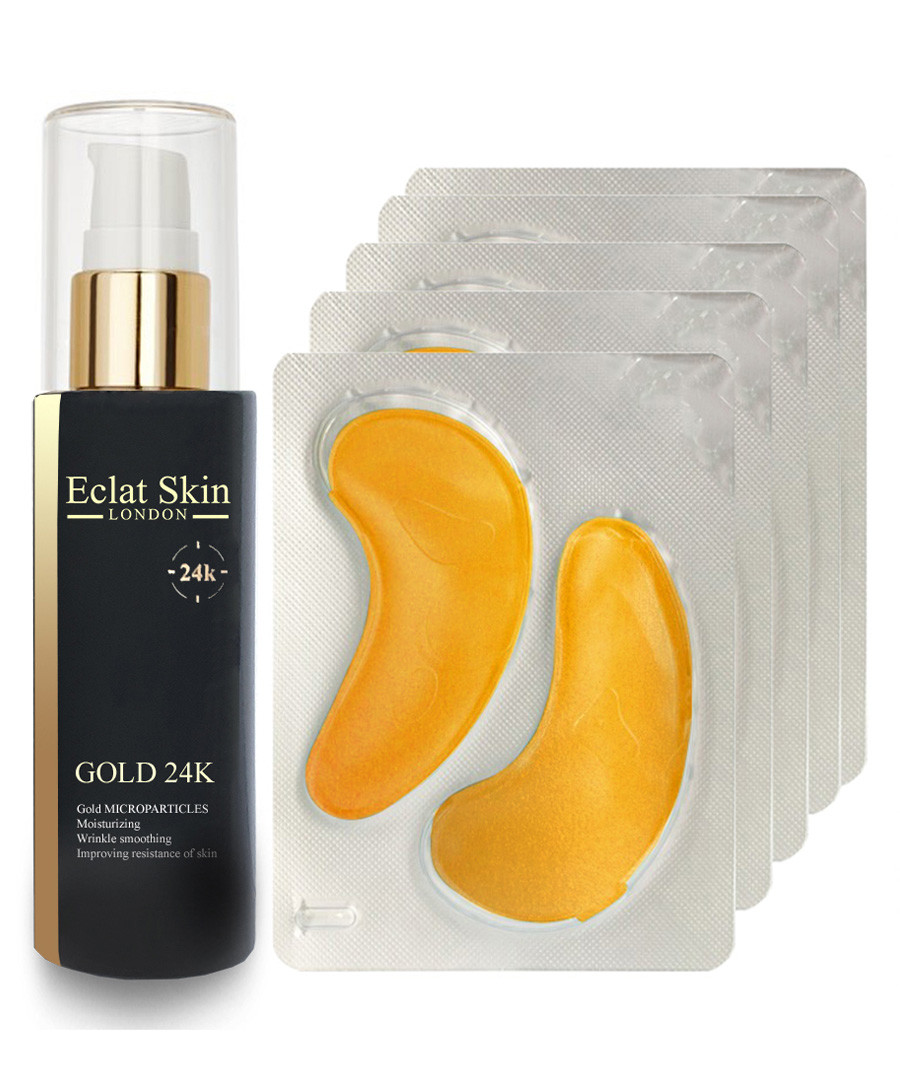 5pc gold eye patches & gold serum set Sale - eclat skincare