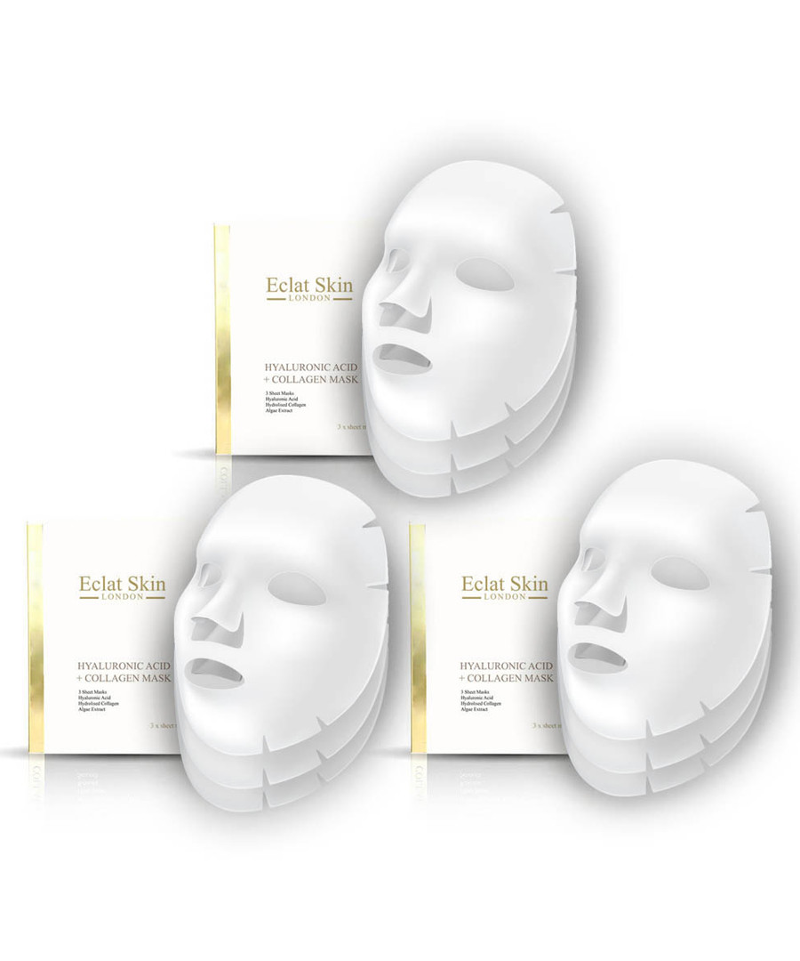 3pc Hyaluronic acid booster sheet masks Sale - eclat skincare
