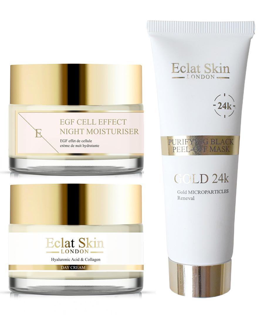 3pc Hyaluronic cream & peel-off mask set Sale - eclat skincare