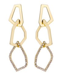 Knots gold-plated link earrings