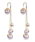 Gold-plate & pink drops earrings Sale - caromay Sale
