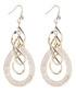 Gold-plate & zirconia helix earrings Sale - caromay Sale