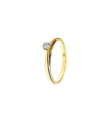 0.1ct diamond & yellow gold ring