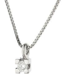 0.03ct diamond & 9k white gold necklace