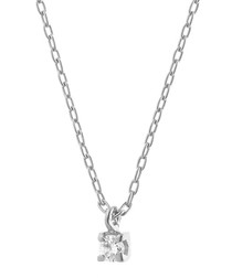 0.07ct diamond & 9k white gold necklace
