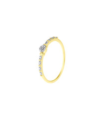 Diamond & 9k yellow gold ring