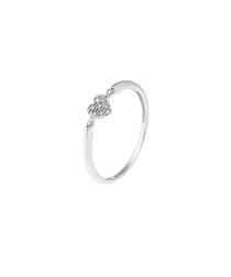 Solitaire diamond & 9k white gold ring