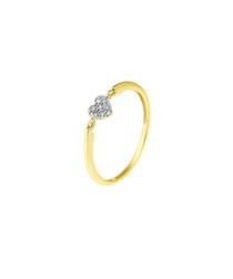 Solitaire diamond & 9k gold ring