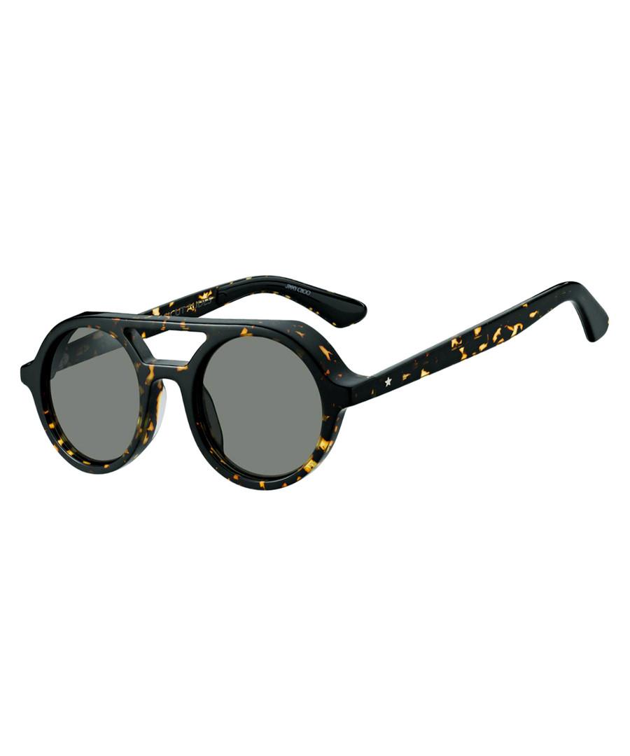 Bob dark havana top-bar round sunglasses Sale - Jimmy Choo