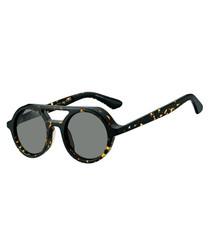 Bob dark havana top-bar round sunglasses