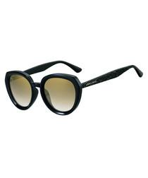 Mace black glitter acetate sunglasses