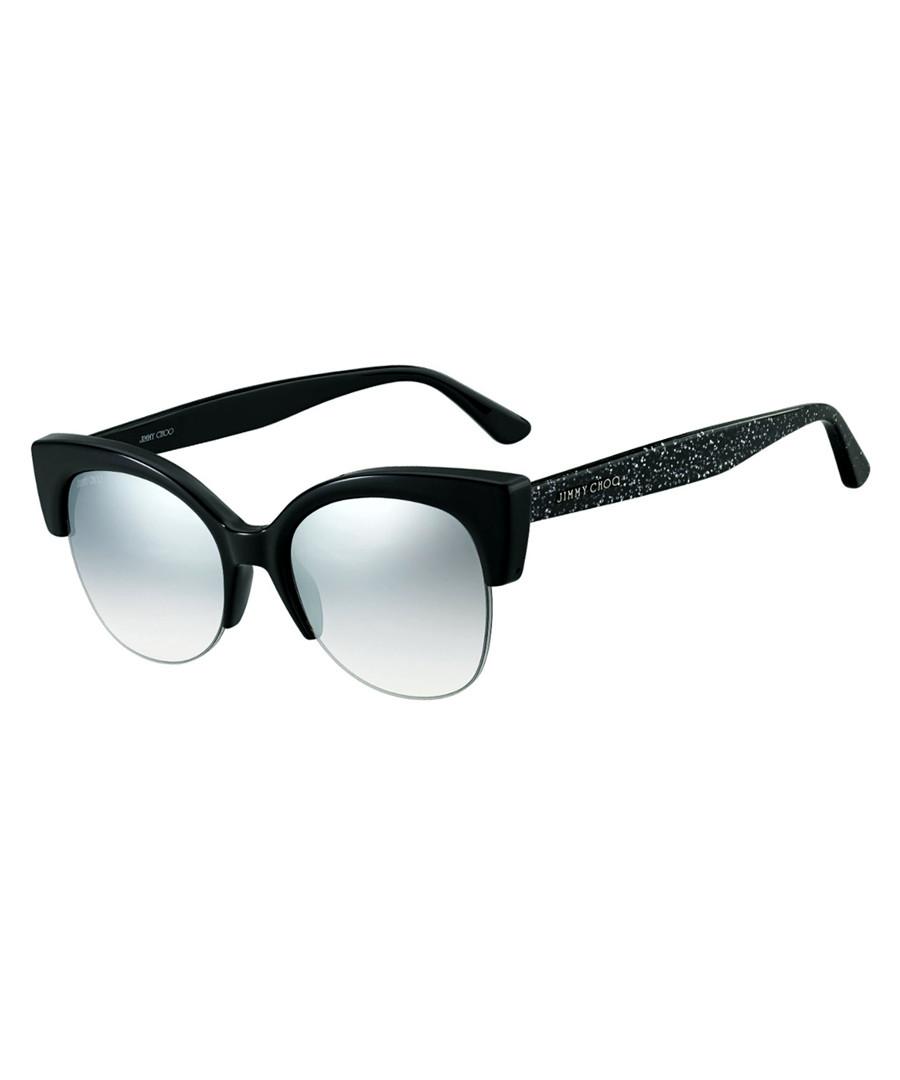Priya black glitter club sunglasses Sale - jimmy choo