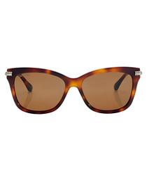 Shade havana & brown D-frame sunglasses