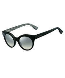 Mirta black glitter cateye sunglasses