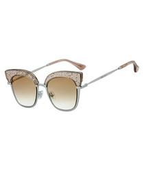 Rosy beige cateye sunglasses