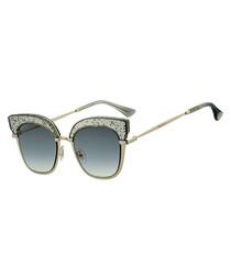 Rosy grey cateye sunglasses