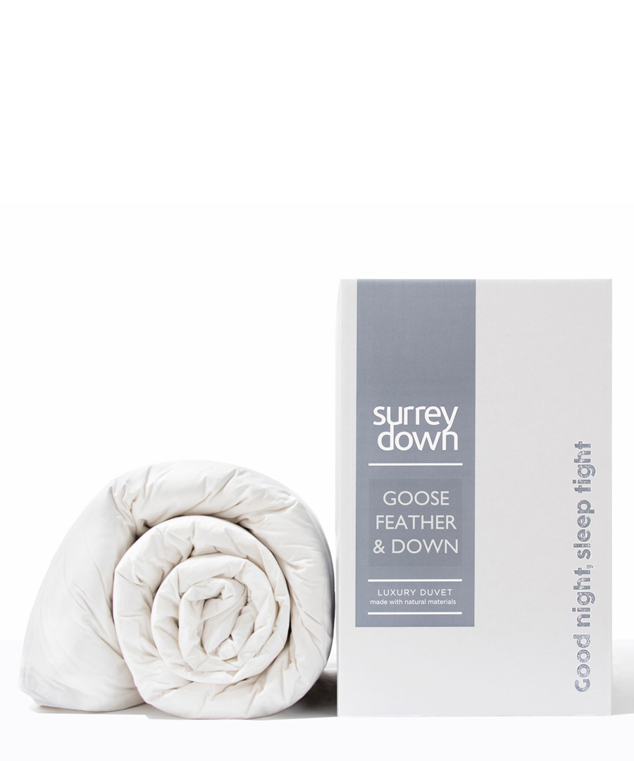 Single Goose Feather & Down duvet 4.5T Sale - surrey down