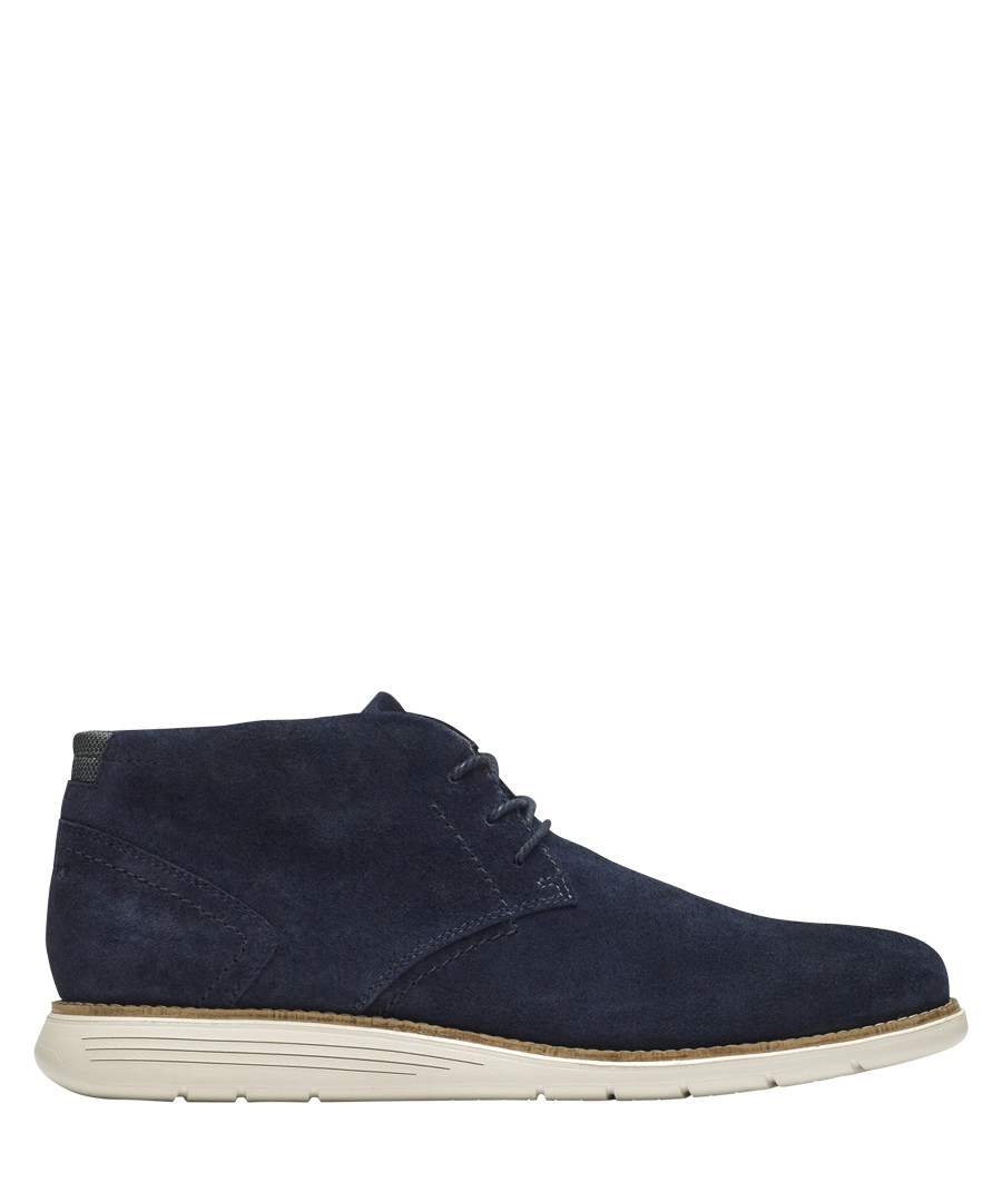 Navy lace-up Chukka shoes Sale - rockport