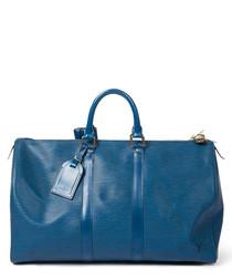 Keepall marine leather weekend bag