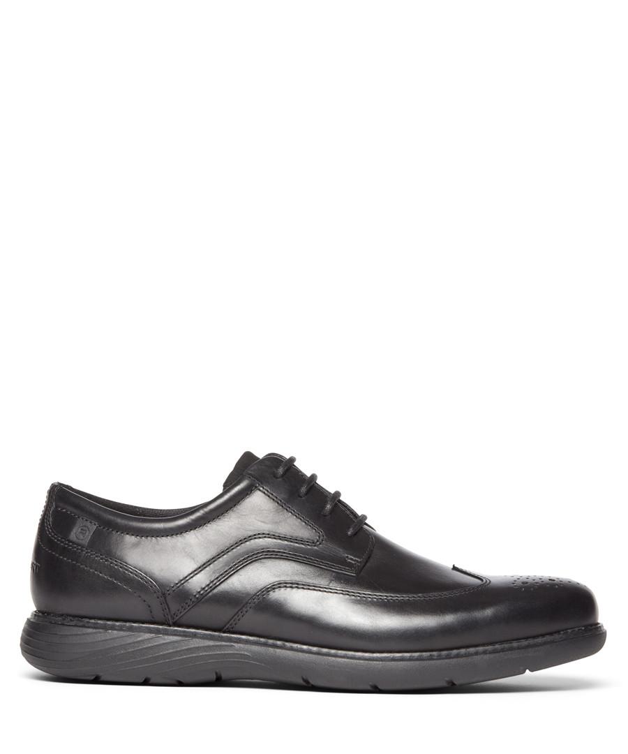 Garett black leather wingtip Oxfords Sale - rockport