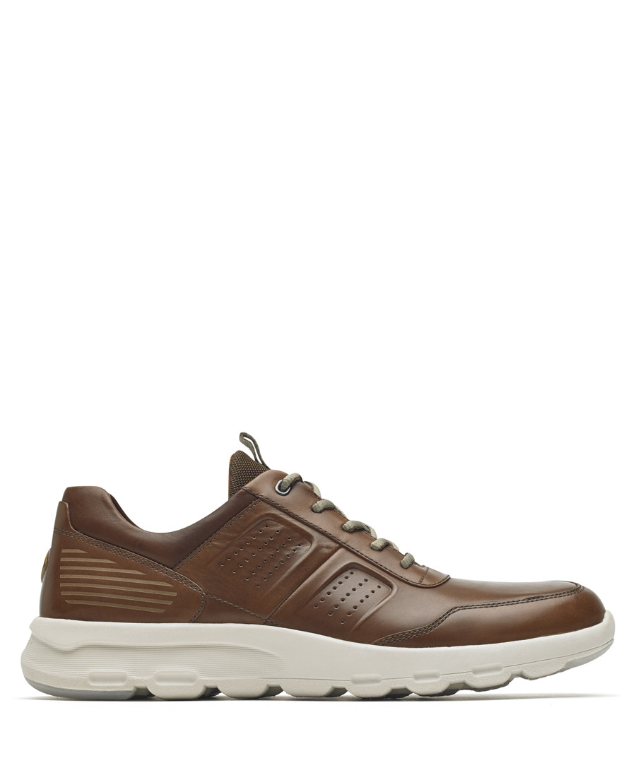 Ubal tan leather sneakers Sale - rockport