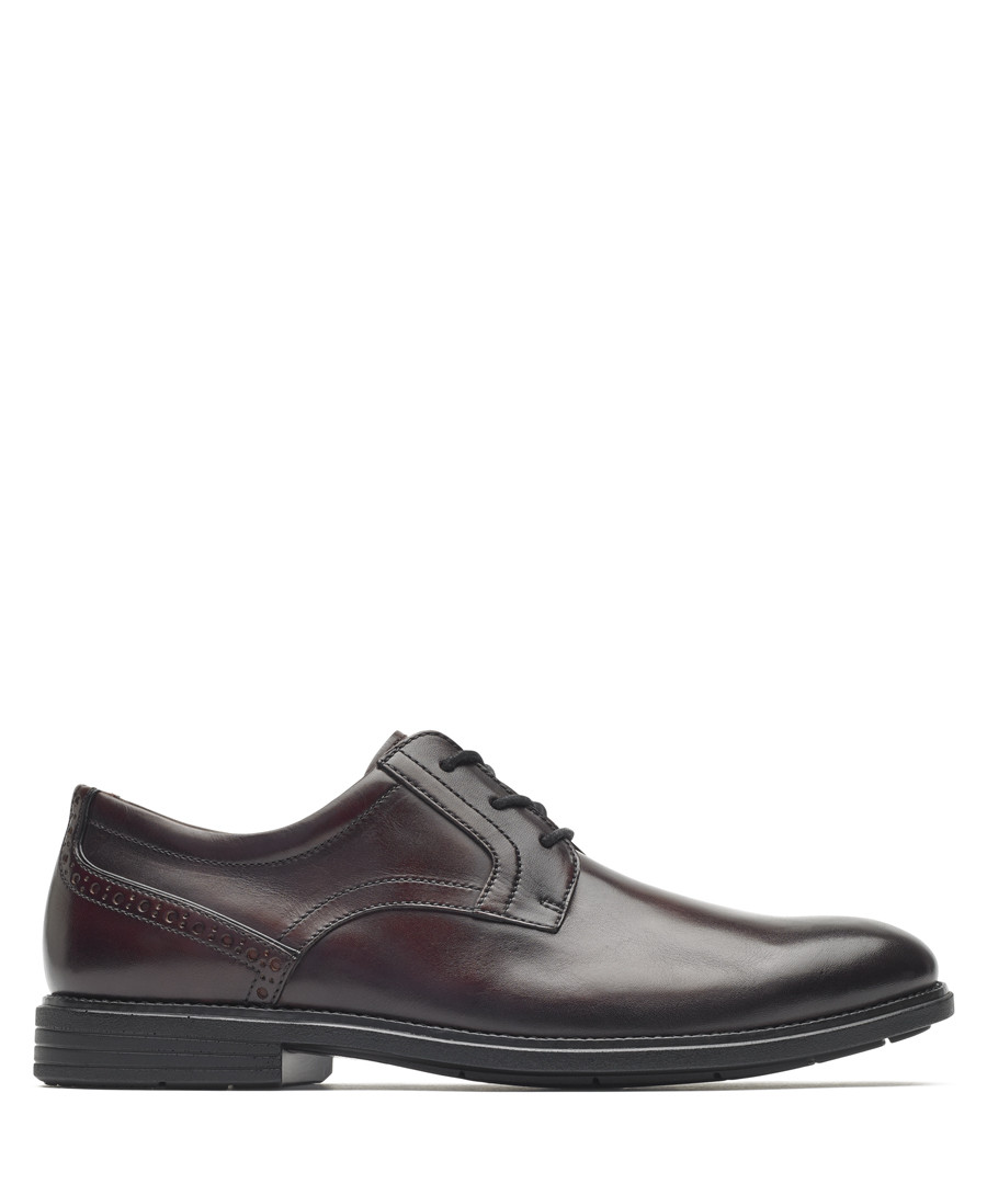 Madson burgundy leather Oxford shoes Sale - rockport