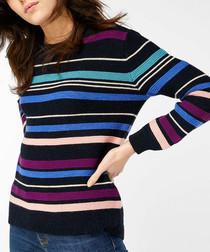 Miley multi-colour striped jumper